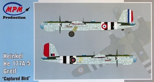"MPM 48062 Heinkel He177A-5 Greif ""Captured Bird"" Bausatz  1:48 OVP"