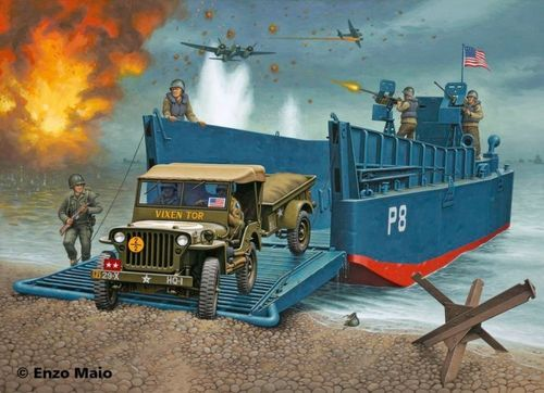 Revell 03000 D-Day Set (LCM3 & 4x4 Off-Road Vehicle) LIMITED EDITION 1:35