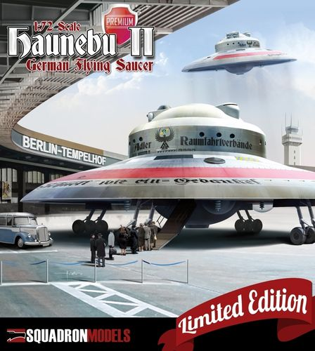 SQM0002 HAUNEBU II - GERMAN FLYING SAUCER SPECIAL EDITION 1:72