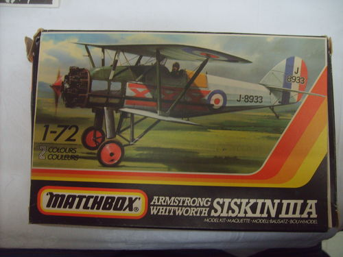 Matchbox PK-25 Armstrong Withworth Siskin IIIA 1:72 OVP