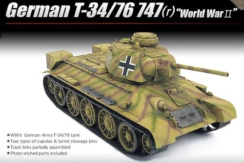 Academy 13502 Kpz T-34 747(r) German Version 1:35 OVP