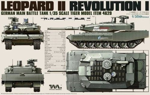 Tigermodel 4629 German Main Battle Tank Revolution I Leopard II  Bausatz 1:35 NEU in OVP