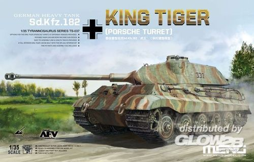 Meng TS-037 German Heavy Tank Sd.Kfz.182 King Tiger (Porsche Turret) Maßstab 1:35 OVP