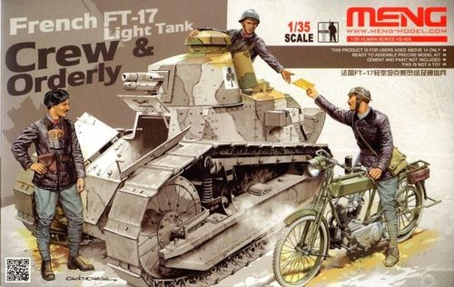 Meng HS-005 rench FT-17 Light Tank - Crew & Orderly 1:35 NEU OVP