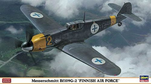 "Hasegawa 07329 Messerschmitt Bf 109G-2 "" FINNISH AIR FORCE "" Bausatz 1:48 NEU OVP Limited Edition"
