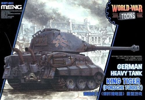 Meng WWT-003 World War Toons King Tiger (Porsche Turret) Bausatz Neu OVP