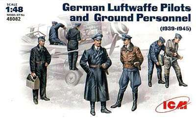ICM 48082 German Luftwaffe Pilots and Ground Personnel Bausatz 1:48 in OVP