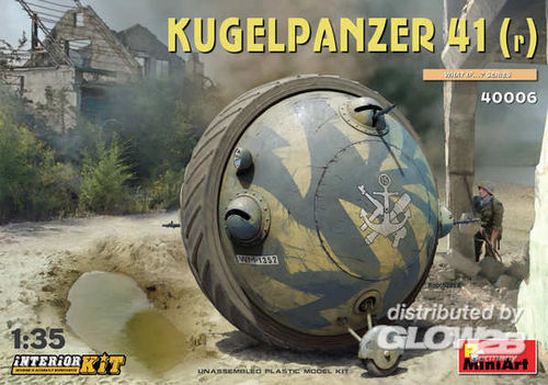 MiniArt 40006 Kugelpanzer 41(r) with Interior Kit Bausatz 1:35 Neu OVP