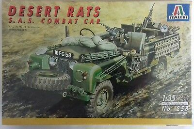 Italeri 258 Desert Rats S.A.S. Combat Car Special Forces Land Rover Modellbausatz 1:35 in OVP