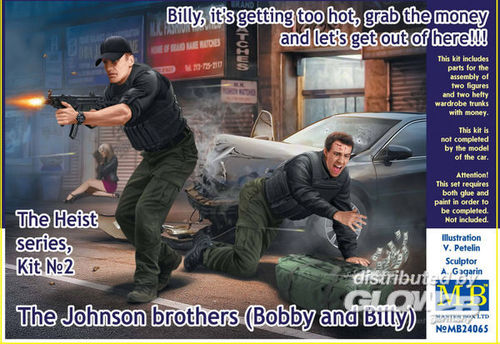 Master Box MB24065 The Johnson brothers (Bobby and Billy) Bausatz Maßstab 1:24 NEU OVP