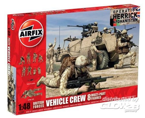 Airfix A03702 British Forces Vehicle Crew Operation Herrick Afghanistan Bausatz 1:48 Neu OVP