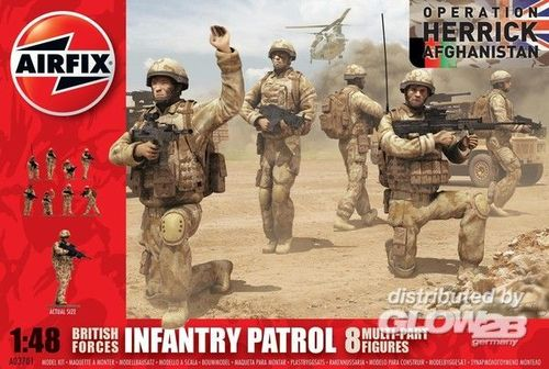 Airfix A03701 British Forces INFANTRY PATROL Operation Herrick Afghanistan Bausatz 1:48 Neu OVP