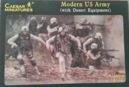 "Caesar Miniatures 030 Modern US Army with ""Desert Equipment"" 1:72 in OVP"
